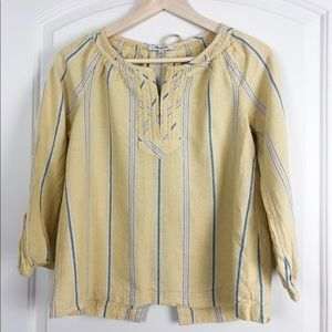 Madewell Peasant top with back detail